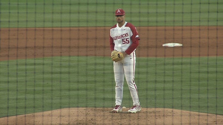 Campbell shuts down Mississippi State, Hogs take game one