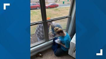 Arkansas great-grandparents meet newborn baby while social distancing