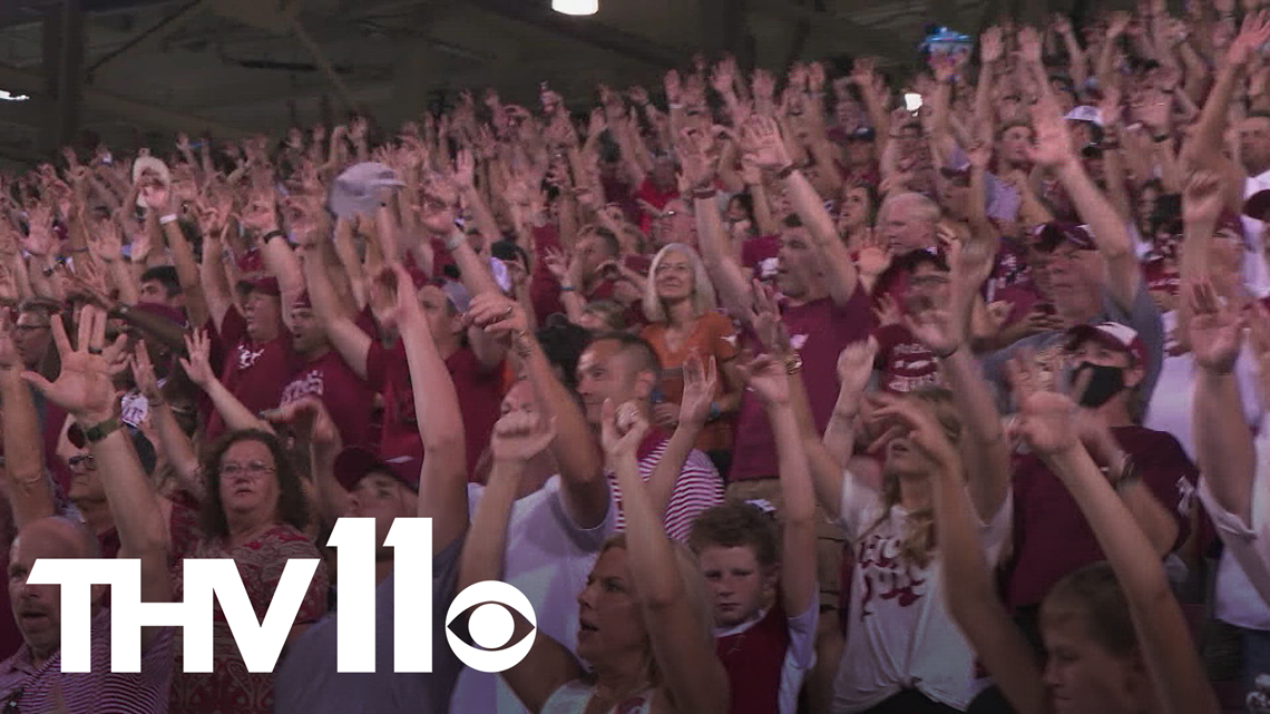 Hog fans high on Sam Pittman following win over Texas