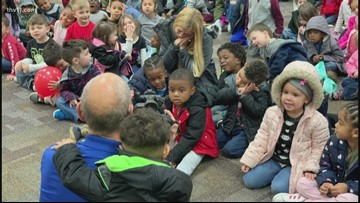 Adkins Pre-K students turn into cats and dogs for Reading Roadtrip