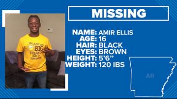 Missing 16-year-old boy in Garland County