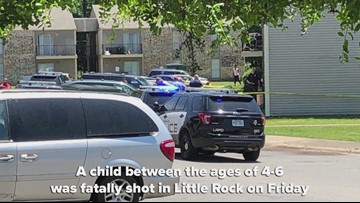 Little Rock police say 1 child dead after being shot at apartment complex