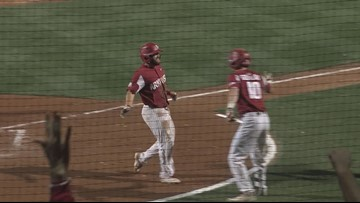 Arkansas scores 11 unanswered runs to take series over LSU