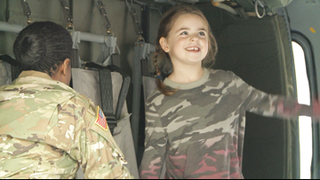 6-year-old who wanted female Army toys meets service members at Camp Robinson