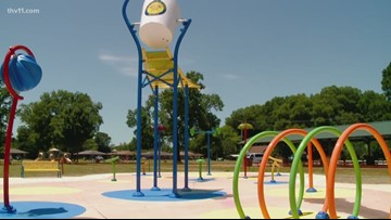 Conway's 5th Avenue Splash Pad almost done