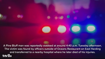 Pine Bluff man found suffering from stab wounds outside restaurant
