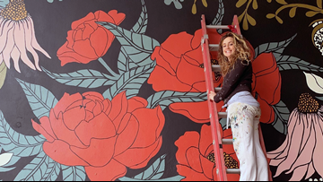 'I couldn't sit in my sadness': Conway artist finds solace in murals after devastating loss