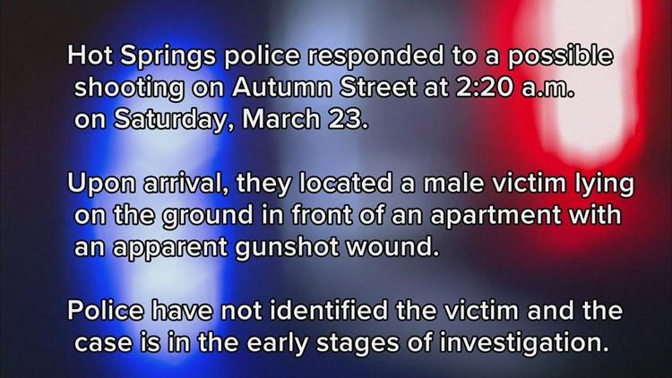 Hot Springs shooting under investigation