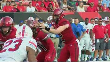 Too many 'first game mistakes' cost Red Wolves against SMU