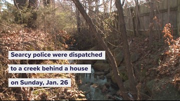 Body found in creek behind Searcy home