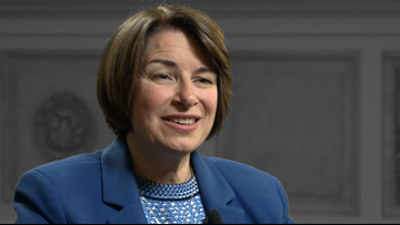 Sen. Klobuchar makes presidential campaign stop in Little Rock, talking gun reform
