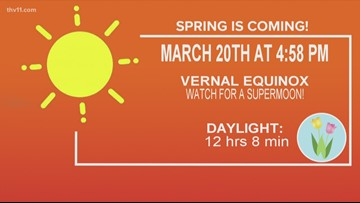 Vernal equinox and super worm moon on the same night