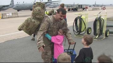 Close to 100 airmen return to Arkansas