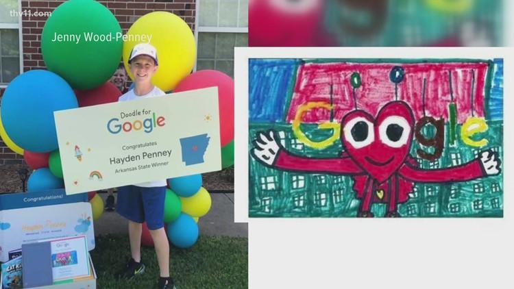 Arkansas 3rd grader chosen as finalist in 2020 Doodle for Google contest