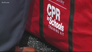 Little Rock Central athletes learn CPR techniques