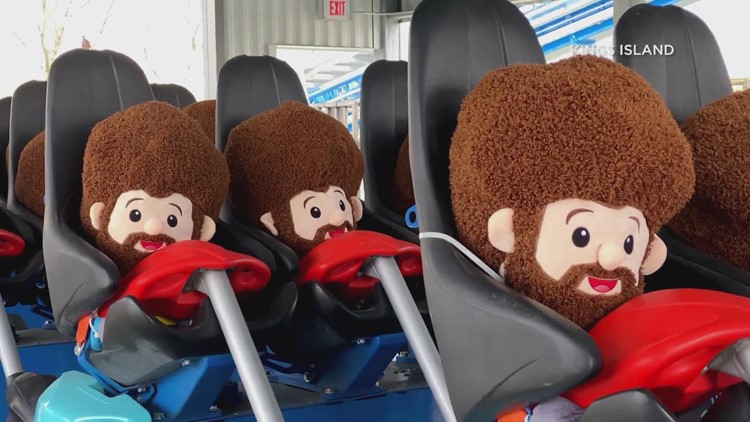 Bob Ross plush dolls used to test new roller coaster