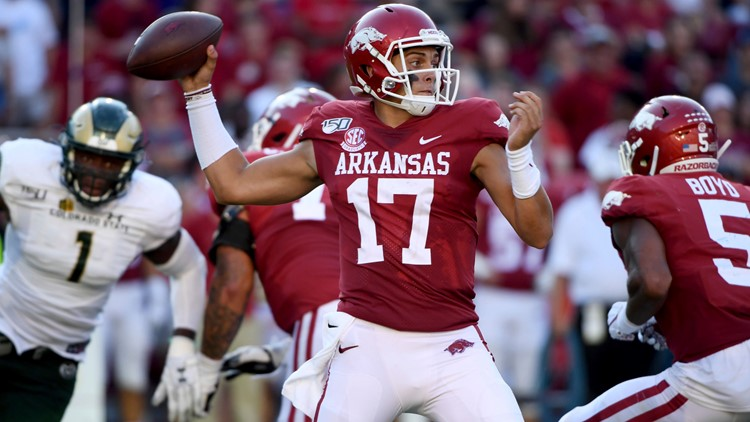 Hogs quarterback Nick Starkel announces he's leaving Arkansas
