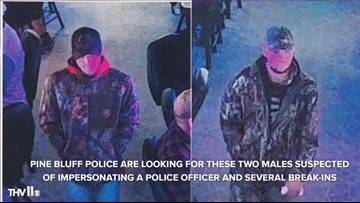 Pine Bluff police looking for male suspects impersonating a police officer