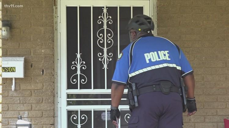 Little Rock police go to door-to-door in community to discuss violent crime