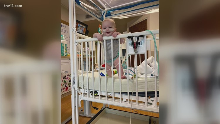 'He's such a happy baby normally': Arkansas mom explains 8-month-old son's struggle with RSV