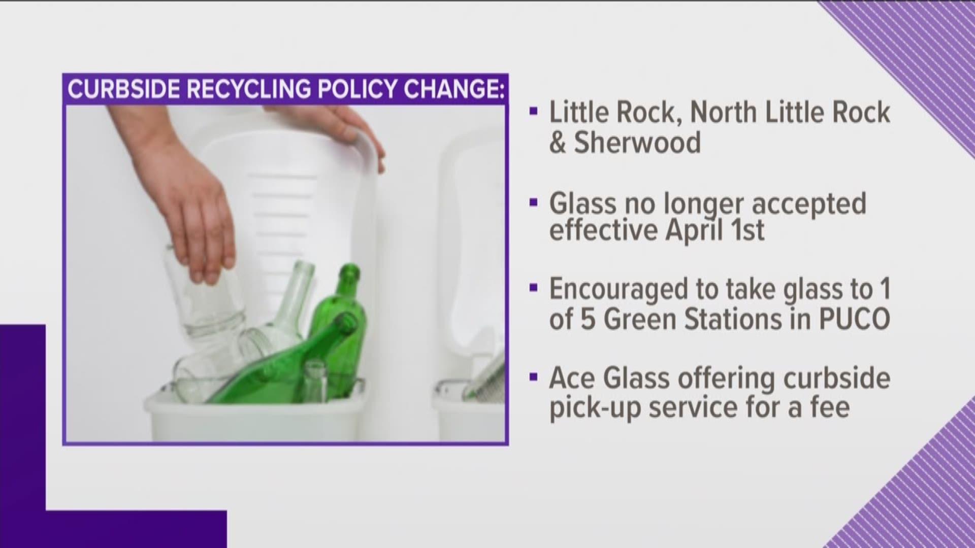 glass recycling little rock