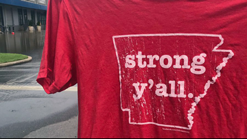 Little Rock clothing store sells 'Strong Y'all' t-shirt, 100% profits to go to flood victims