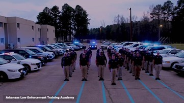 Arkansas Law Enforcement Training Academy honors fallen Hot Springs officer