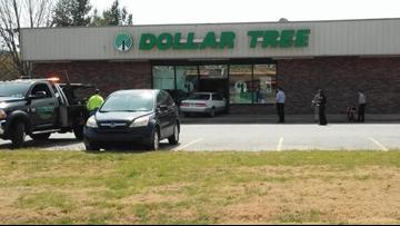 Car crashes into Farmington Dollar Tree