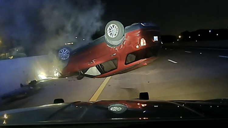 Woman suing Arkansas State Police after car flipped using PIT maneuver