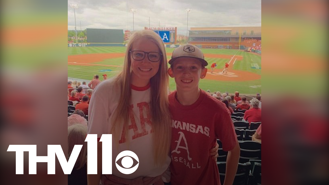 13-year-old surprised with last minute Razorback tickets for his birthday