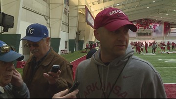 Barry Lunney Jr. previews first practice as interim head coach