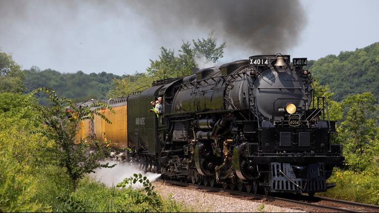 'Big Boy' steam locomotive on display in North Little Rock today