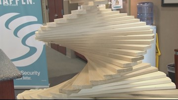 Wooden trees making Christmas dreams come true for foster children