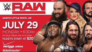 WWE Raw comes back to Verizon Arena in July