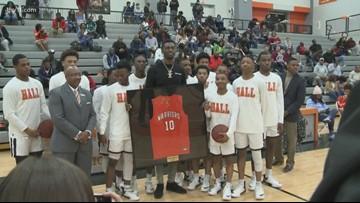 Hall High School retires Bobby Portis' jersey