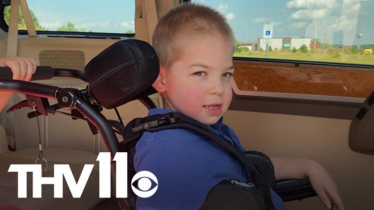 Boy with rare genetic disorder surprised with handicap van