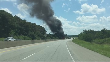 WATCH | Camper trailer caught on fire in Garland County