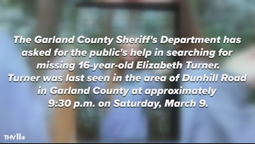 Garland County Sheriff's Department searching for 16-year-old girl