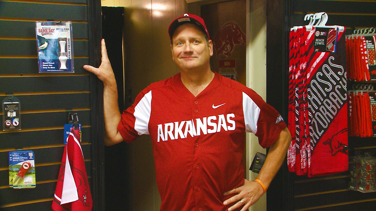 'New season, new jersey': Ed Buckner finds the perfect 'lucky' shirt for Razorback baseball season