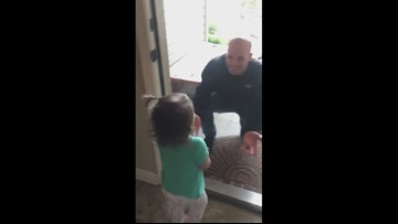Hot Springs Marine surprises daughters after year-long deployment