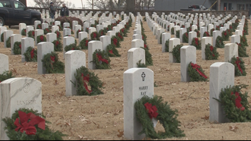 'Never forget' | Thousands of wreaths placed at Little Rock National Cemetery