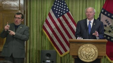 Gov. Hutchinson says out-of-state visitors 'crowding' Arkansas parks