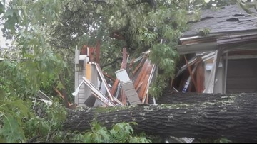 Tree crushes family's home in Fort Smith