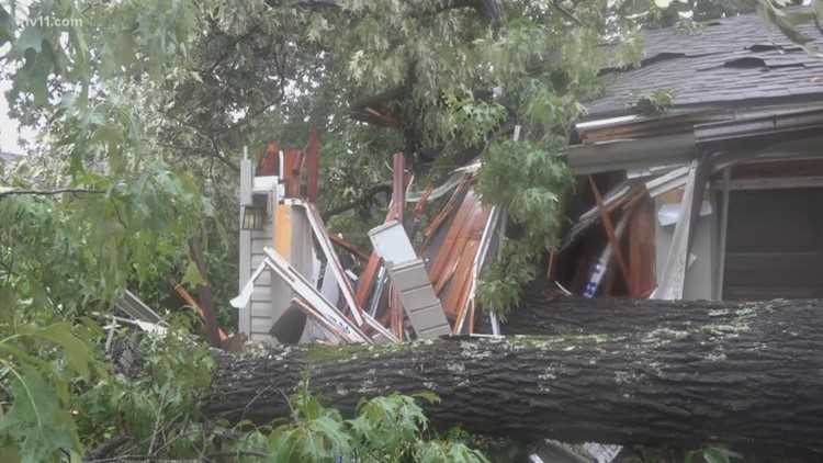 Fort Smith family lucky to be alive after tree crushes home