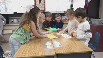 Elementary students learn how to code