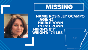 Little Rock police searching for 42-year-old Rosinley Ocampo, also known as Nelly