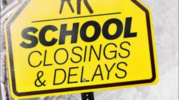 LIST: School closings, delays and virtual learning