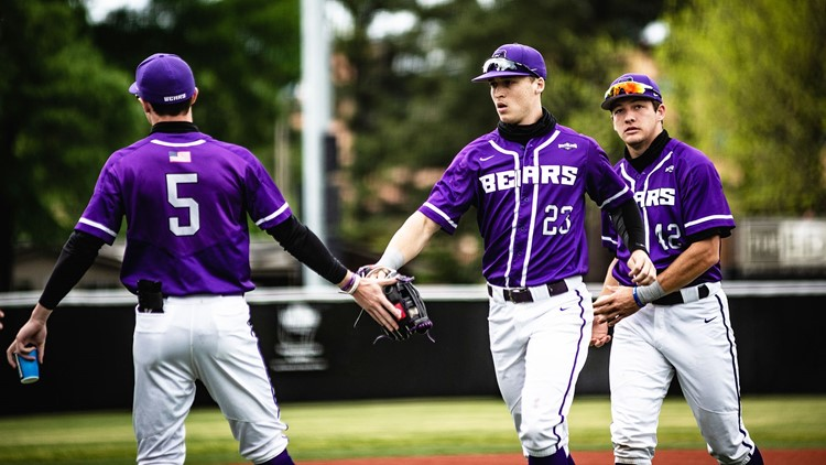 Baseball Bears split another doubleheader with Huskies