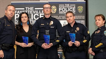 Three Fayetteville officers awarded for actions during fatal shooting Officer Carr