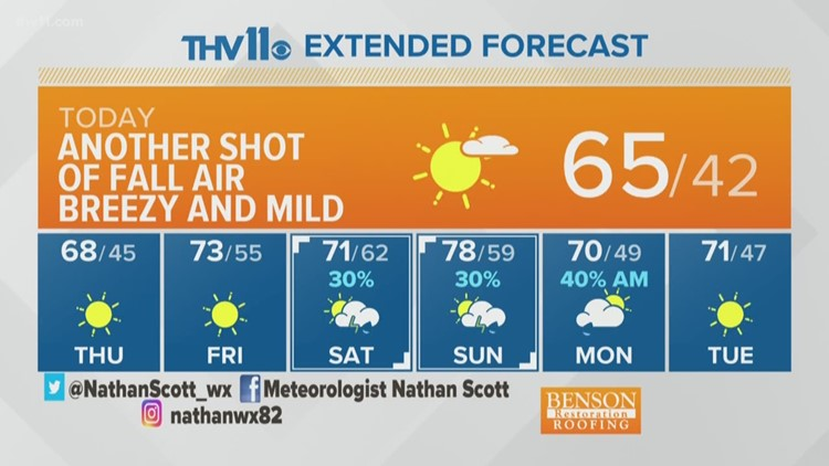 Your Arkansas weather forecast from THV11